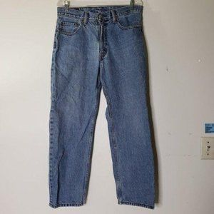 W36 L30 Vintage Levi/'s 550 Relaxed Bootcut Jeans Mid Blue